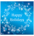greeting card for christmas with snowflakes vector image vector image