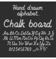 Hand drawin alphabet handwritting abc font on vector image