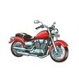 Hand-drawn vintage motorcycle Classic chopper vector image vector image