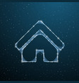 house exterior polygonal concept wireframe front vector image