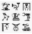 Industrial robot set vector image vector image