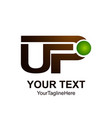 initial letter up logo template colored brown vector image vector image