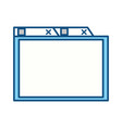 isolated simple browser window vector image vector image