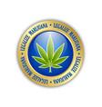 legalize marijuana hemp leaf icon on white vector image