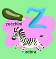 letter z from children s alphabet
