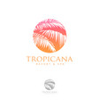 logo tropical spa leaves vector image vector image