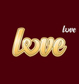 love calligraphic text vector image vector image