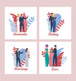 love relationships from romantic date to marriage vector image