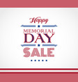 memorial day sale beautiful background vector image vector image