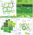 modern ecology design infographic collection 2 vector image