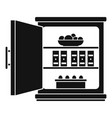 open food fridge icon simple style vector image