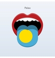 Palau language Abstract human tongue vector image vector image