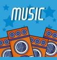 party speakers modern music equipment vector image
