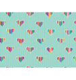 pattern hearts vector image vector image