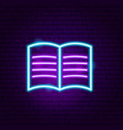 reading neon sign vector image