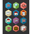 Real Estate flat icons set vector image vector image