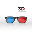 realistic 3d cinema glasses front view plastic vector image vector image