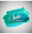 Sale label on the azure watercolor stain vector image vector image