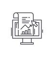 sales statistics line icon concept sales vector image vector image