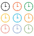 set clock icon on white background clock symbol vector image vector image