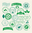 set ecology healthy food and environment vector image vector image