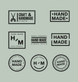 set linear badges and logo design elements vector image