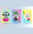 set of summer sale background banner flyer vector image vector image