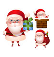 set xmas santa claus character vector image