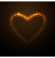 shine glow gold heart vector image vector image