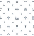station icons pattern seamless white background vector image vector image