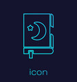 turquoise line holy book koran icon isolated on vector image vector image