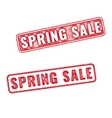 Two stamps Spring sale textured imprint vector image