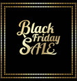 typography black friday vector image vector image