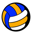volleyball ball icon icon cartoon vector image vector image