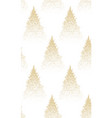 winter seamless pattern with gold fir trees and vector image vector image