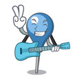 with guitar clyster mascot cartoon style vector image