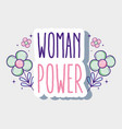 woman power cartoon vector image vector image