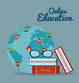 world community with education online service vector image