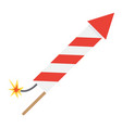 fireworks rocket flat icon new year and christmas vector image