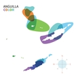 Abstract color map of Anguilla vector image vector image