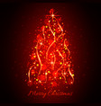 abstract glowing light christmas tree christmas vector image vector image