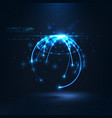 abstract shape of glowing circles and particles vector image