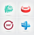 Angle 360 degrees sign icons vector image
