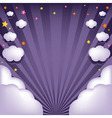 Background With Clouds And Stars vector image vector image