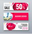 banner template design presentation concept pink vector image