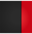 black leather background panel on red vector image vector image