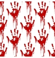 Bloody hand print seamless pattern vector image vector image