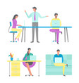 business conference of boss job office workplace vector image vector image