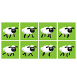 cartoon trotting sheep animation sprite sheet vector image