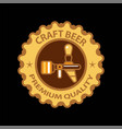 craft beer premium label icon beer tap vector image vector image